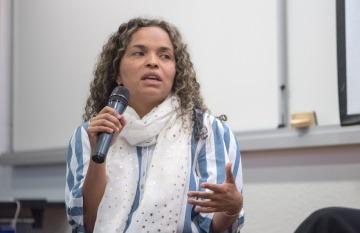 Ginna Morelo dirigirá junto a Tulio Hernández el taller 'Refugiados y migrantes: cómo cubrir el caso venezolano'. Foto: Daniel Gómez / Fundación Gabo.