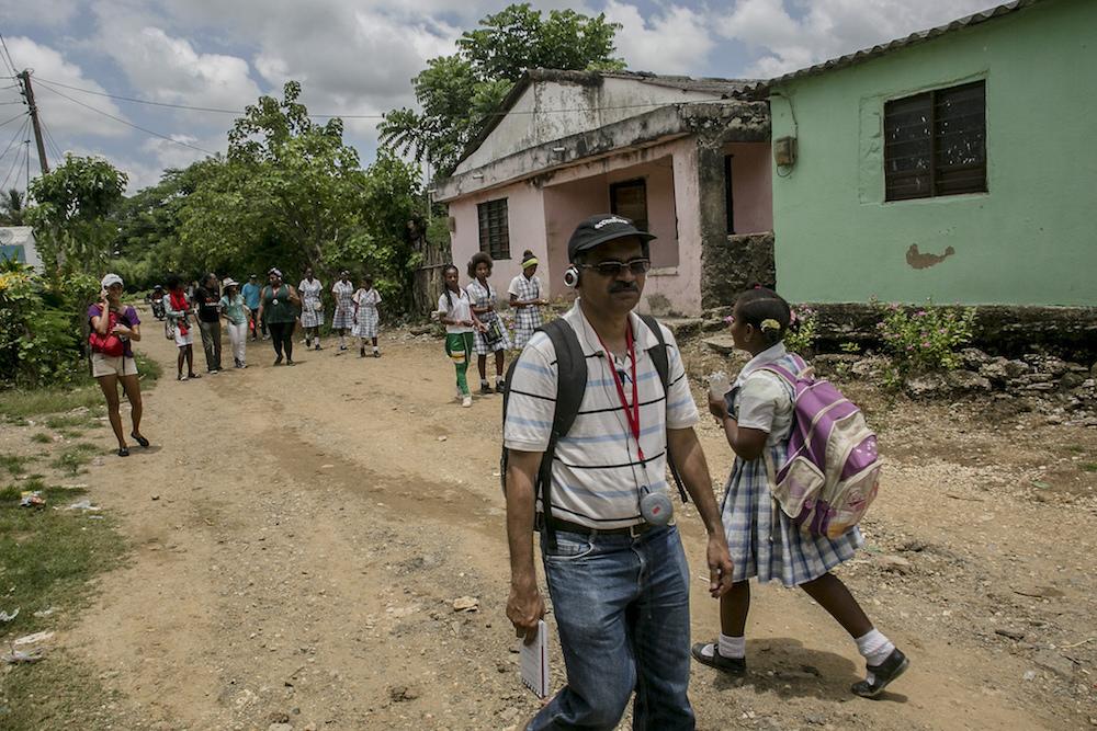Los becarios recorrieron San Basilio de Palenque en busca de historias sobre la cultura afro en el Caribe.