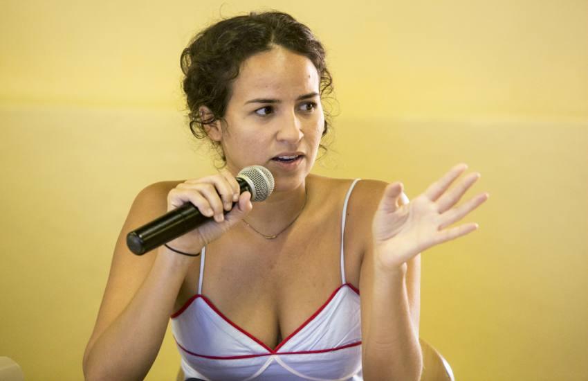 Luiza Miguez, participante de la Beca Gabo 2018. Foto: David Estrada.