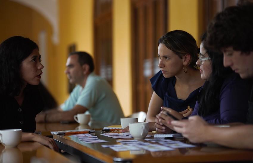 Los periodistas que participaron en el Taller de Periodismo de Soluciones ofrecido en mayo de 2019 por la Fundación Gabo, dictarán charlas sobre el enfoque en sus respectivos países. Foto: Emmanuel Upegui - Fundación Gabo.