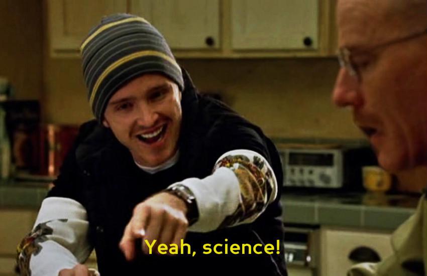 La famosa escena donde Jesse Pinkman celebra el conocimiento científico de Walter White en la serie Breaking Bad | AMC