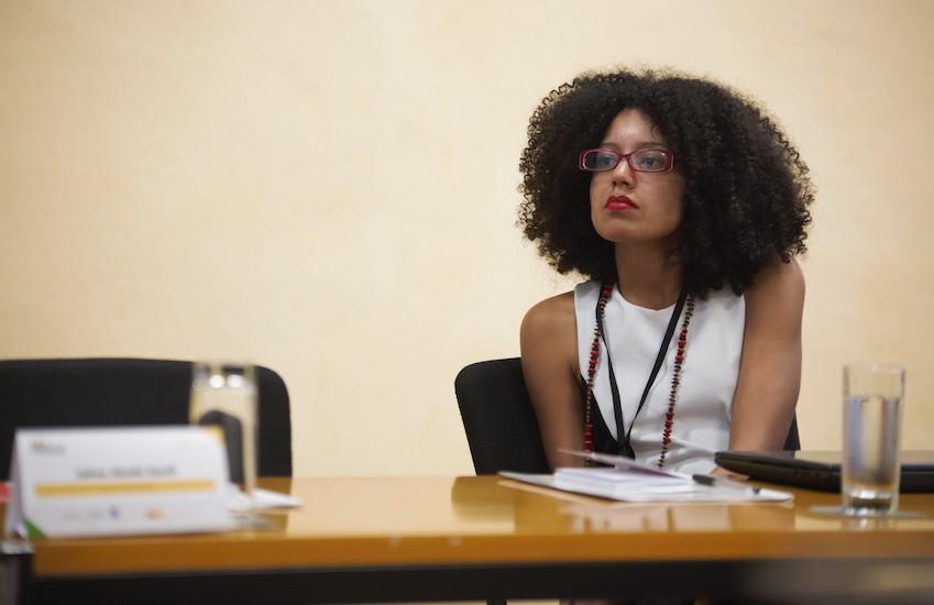 Priscila Pacheco asegura que muchas personas en su país están hartas de las noticias negativas y prefieren no verlas. Foto: Emmanuel Upegui - FNPI.