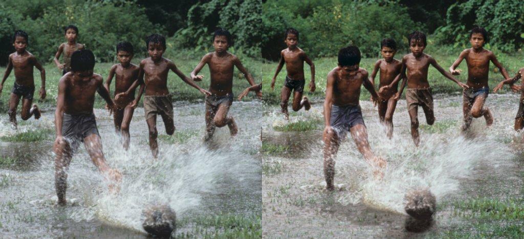 Otra de las fotografías de McCurry editadas que reveló Petapixel. A la izquierda, la imagen original. A la derecha, editada.
