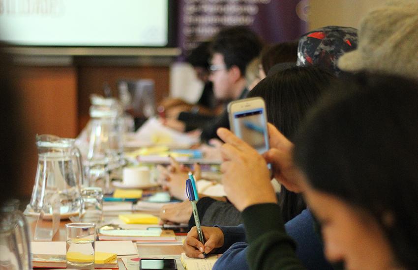Periodistas emprendedores durante el encuentro que se realiza en Lima. Foto: Germán Olano/UPC.