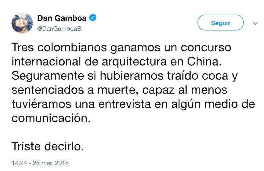 El tuit de Daniel Gamboa que dio pie a #InformeYnoLlore