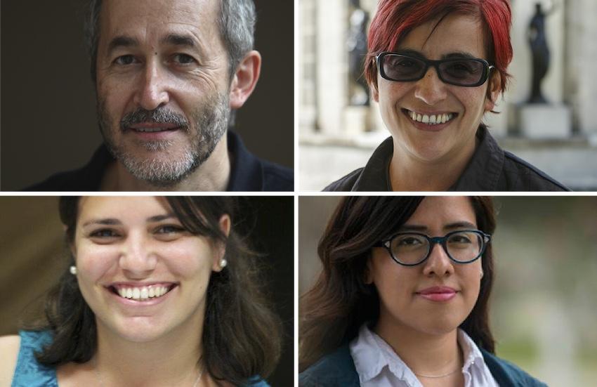 Arriba: Gumersindo Lafuente, Olga Lucía Lozano. Abajo: Elaine Díaz, Natalia Sánchez.