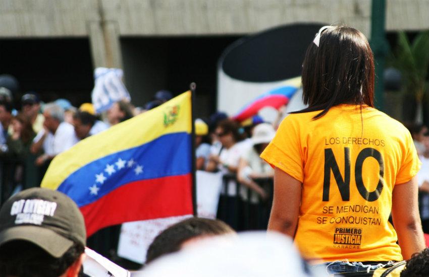 Protesta por el NO al referéndum constitucional, Venezuela, 2007 | Fotografía: Carlos Adampol Galindo en Flickr | Usada bajo licencia Creative Commons.