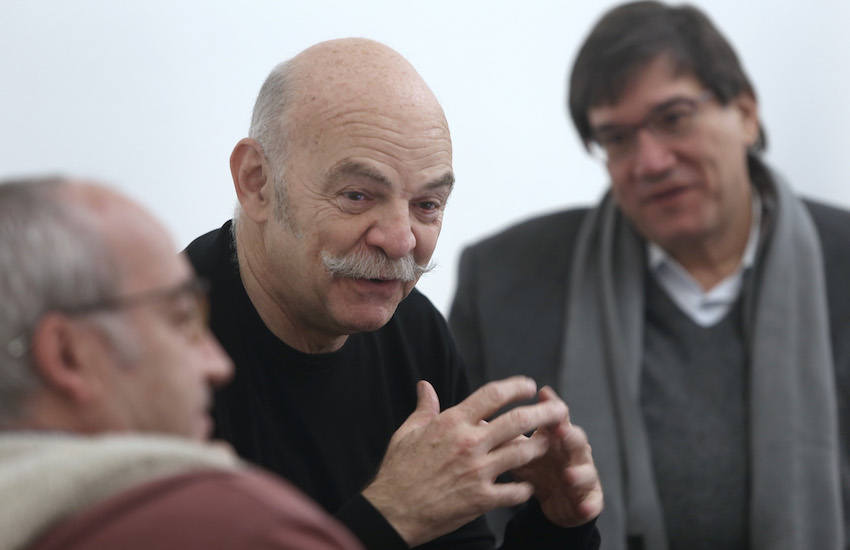 Martín Caparrós, maestro del Taller de libros periodísticos.