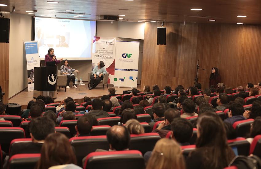 La actividad se llevó a cabo el 31 de julio y el 1 de agosto en la Universidad Peruana de Ciencias Aplicadas, en Lima. Foto: Emmanuel Upegui / FNPI.