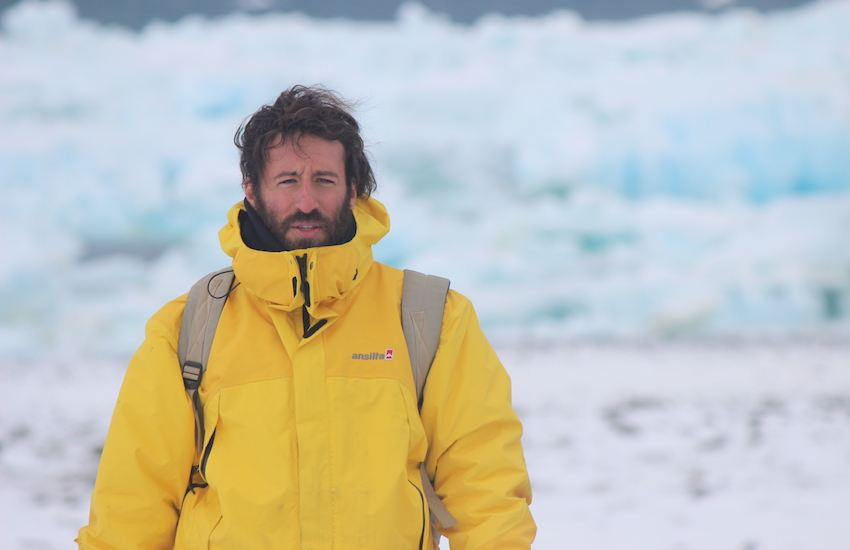 Federico Bianchini en la Antártida.