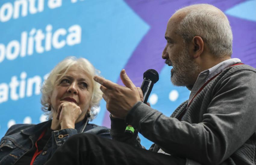 Mónica González y Daniel Moreno, maestros del Taller virtual Nuevas miradas para viejos temas. Foto: Joaquín Sarmiento / FNPI.