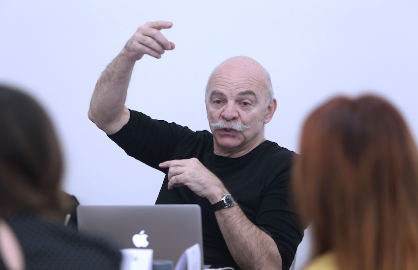 Martín Caparrós, maestro del Taller de libros periodísticos / Foto: Gonzalo Martínez