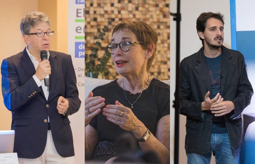Carlos Francisco Fernández, Nora Bär y Vinicius Sassine / FNPI.