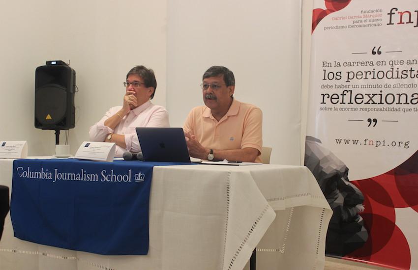 Jaime Abello, director general de la FNPI, y Ernest Sotomayor, codirector del curso.