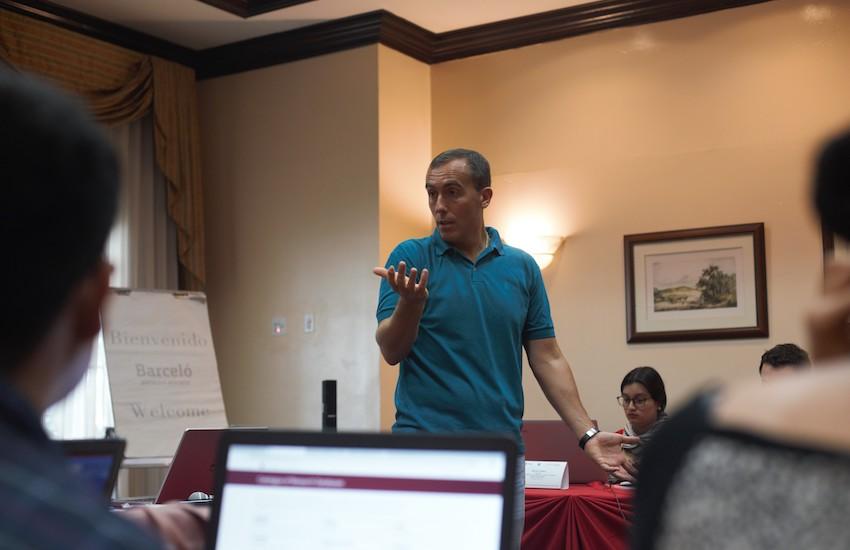 Hugo Alconada Mon, prosecretario de redacción de La Nación (Argentina). Foto: Emmanuel Upegui / FNPI.