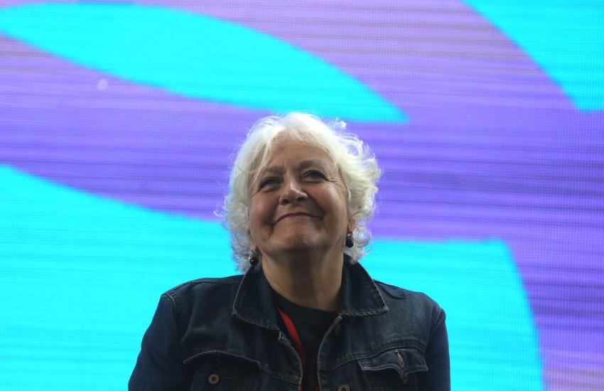 Mónica González durante el Festival Gabo 2018. Fotografía: FNPI.