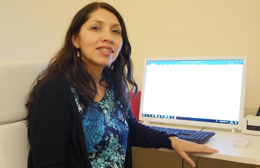 Gabriela Figueroa, ganadora de la Beca de periodismo sobre desigualdad de género. Foto: Juan Martín Staffa / FNPI.