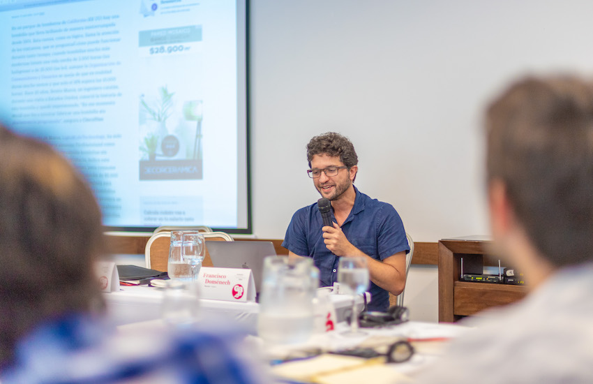 Francisco Doménech, jefe de producto y desarrollador web de Materia. Foto: Casa Productora / Fundación Gabo.