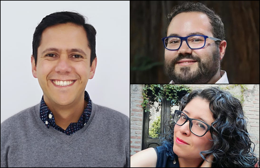 Izquierda: Óscar Parra (Colombia). Derecha arriba: Rodrigo Pérez Ortega (México). Abajo: Myriam Vidal Valero (México).