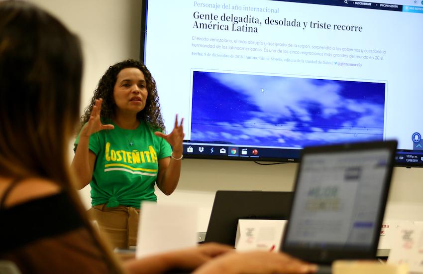 Ginna Morelo, editora de la Unidad de Datos de El Tiempo. Foto: Guillermo González / Fundación Gabo.