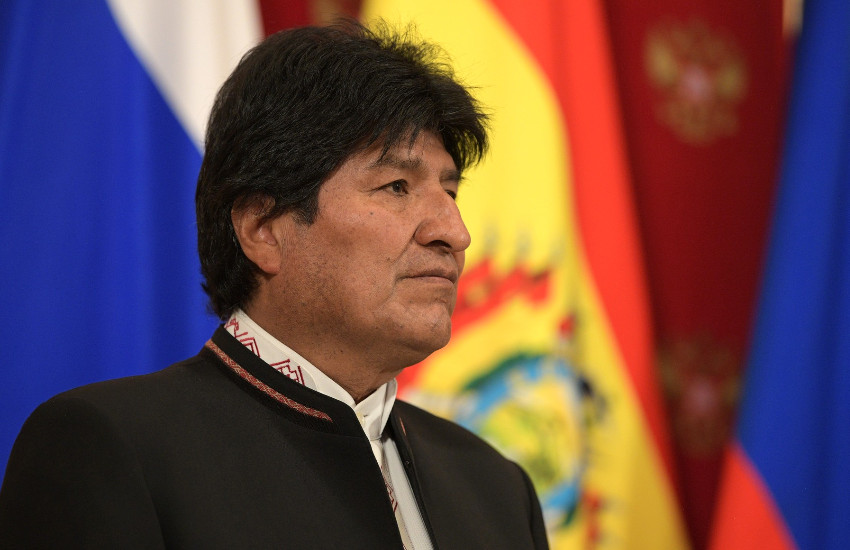 Evo Morales, expresidente de Bolivia. Fotografía: Kremlin.ru en Wikimedia Commons.