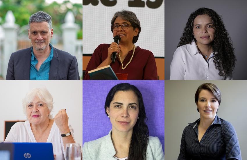 Arriba: Miquel Molina, Yolanda Ruiz, Ginna Morelo. Abajo: Mónica González, Isabela Ponce, Sandra Borda.