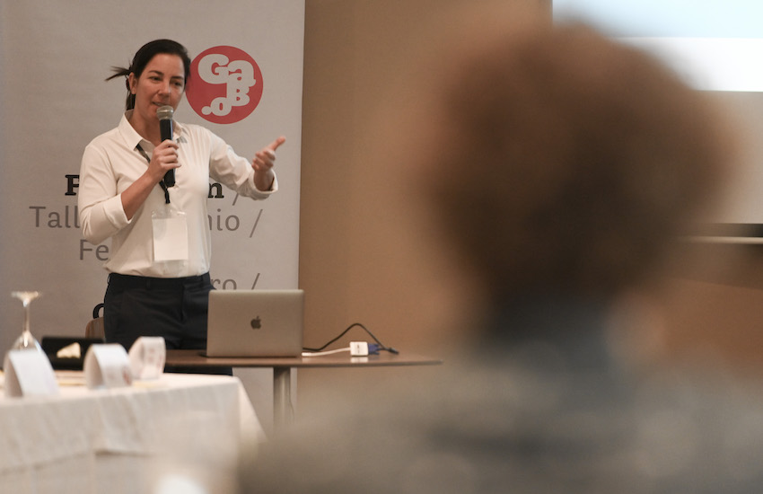 Renata Rizzi, cofundadora de Nexo Jornal. Foto: Joaquín Sarmiento / Fundación Gabo.