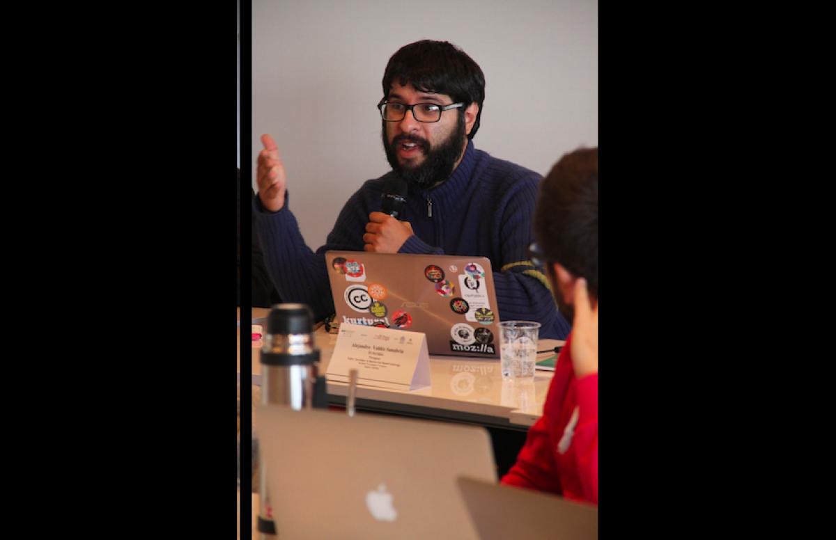 Participante del taller. Foto: Mateo G. Rivas / FNPI