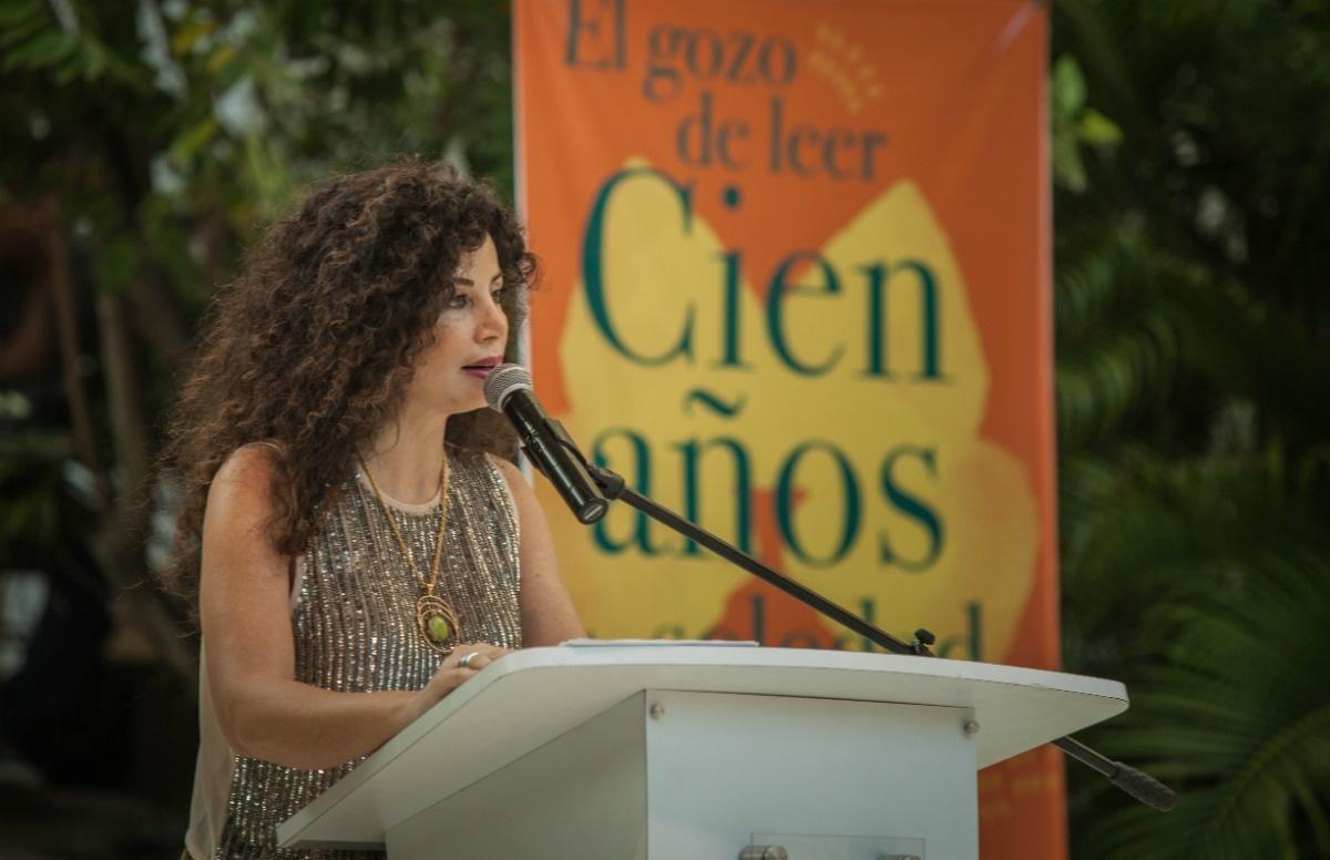 Joumana Haddad, leyó en árabe la obra de Gabo.