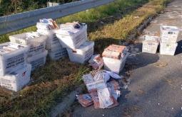 ¿En realidad estas cajas llenas de votos abandonadas en la carretera demuestran que hubo fraude en las elecciones presidenciales de Estados Unidos?