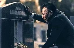¿Es auténtica esta imagen de Pelé visitando la tumba de Maradona?... ¡Responde nuestro quiz de noticias!