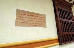 Placa instalada por el Centro de Historia de Jericó.