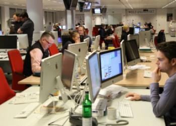 Sala de redacción del Axel Springer Haus. Foto: Thomas Schmidt - Wikimedia Creative Commons.