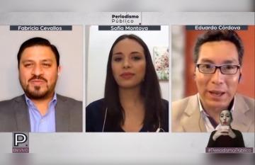 Periodismo Público es el nombre del colectivo formado por ex trabajadores de los Medios Públicos de Ecuador. Foto: YouTube