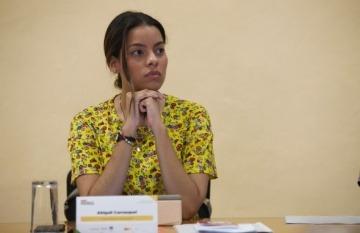 Abigail Carrasquel durante el Taller de Periodismo de Soluciones de la Fundación Gabo.