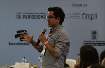 Carlos Cortés durante su taller | Fotografía: Julián Roldán.