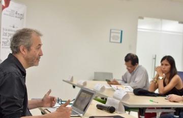Gumersindo Lafuente, maestro de la FNPI. Foto: Carlos Torres / FNPI.