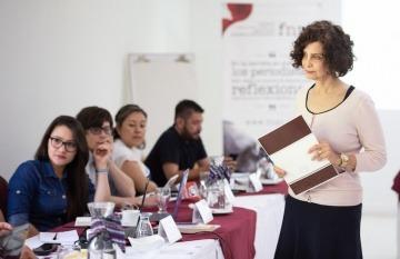 Tina Rosenberg, cofundadora de la Red de Periodismo de Soluciones y columnista del New York Times. Foto: Emmanuel Upegui / FNPI.