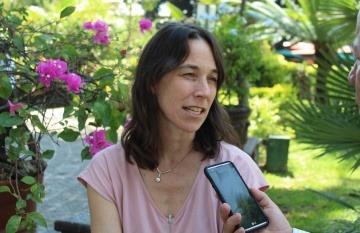 Cathleen Caron, fundadora y directora ejecutiva de Justice in Motion. Foto: Carlos Quintero Juan / FNPI.