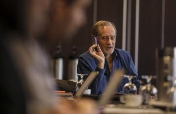 Jean-François Fogel, director de la maestría en gerencia de medios de Sciences Po en París y miembro del Consejo Rector de la Fundación Gabo. Foto: Joaquín Sarmiento / Fundación Gabo.