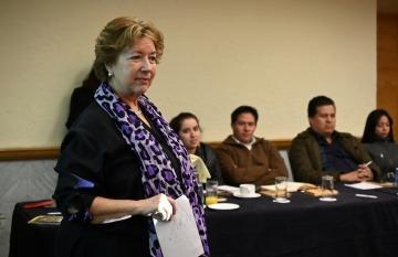 Ángela Posada-Swafford. Foto: Lucía Vergara / Fundación Gabo.