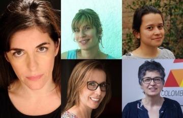María Eugenia Ludueña, Ana Fornaro Nina Chaparro, María Mercedes Acosta y Marcela Sánchez.