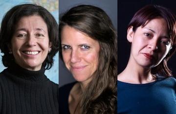 De izq. a der.: María Teresa Ronderos, Almudena Toral y Mónica González Islas.