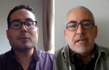 Antonio Paz, editor de Mongabay en Colombia y Ecuador, y Adrián Reuter, asesor principal para Latinoamérica en materia de combate al tráfico de especies de Wildlife Conservation Society (WCS).