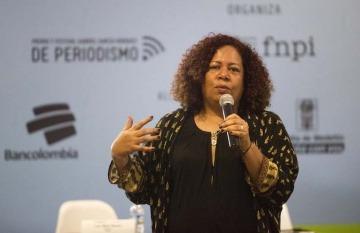 Luz Mely Reyes durante un taller de la Fundación Gabo.