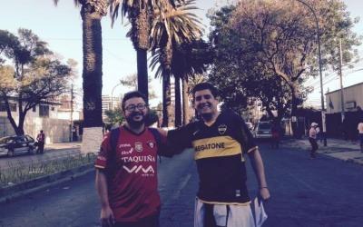 Santiago Espinoza y Sergio De la Zerda, dos periodistas de Cochabamba ganadores de la Beca de Periodismo de Soluciones - Edición Especial. Foto: Cortesía