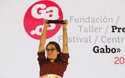 Mónica Baró, periodista cubana ganadora del Premio Gabo 2019 en la categoría Texto. Fotografía: Fundación Gabo.