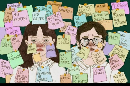 Esta ilustración fue parte de la conversación #HablemosDeEducaciónSexual. Crédito: Chuleta Prieto