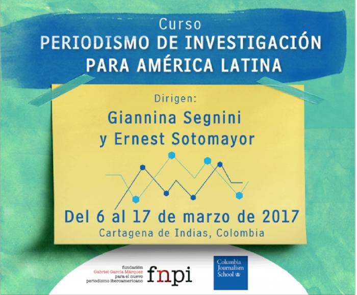 Abiertas las inscripciones al curso de Periodismo de Investigación para América Latina