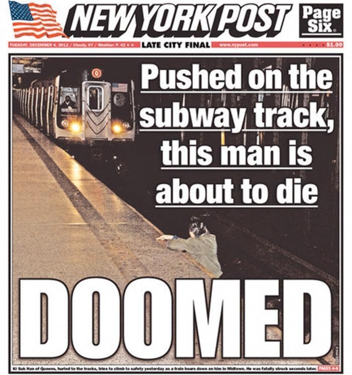 Portada del NY Post el martes